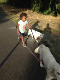 Neveah is a natural with dogs.